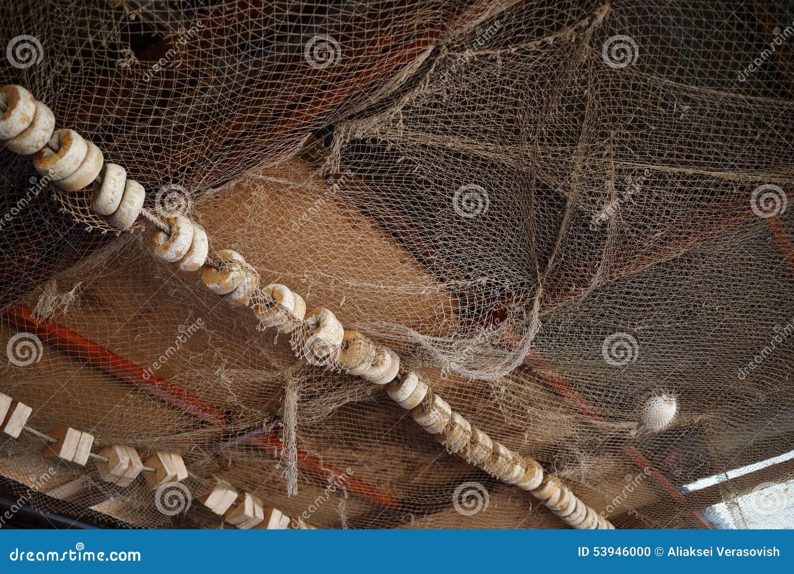 Vecchia rete da pesca fotografia stock immagine di nodo - Rete da pesca per decorazioni ...