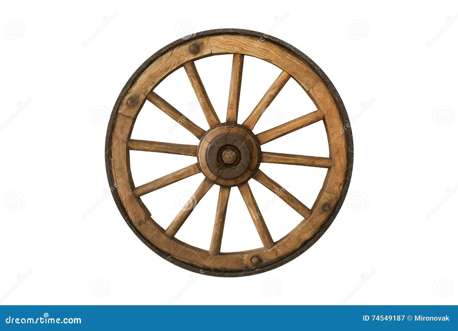 Vecchia ruota di legno di Brown