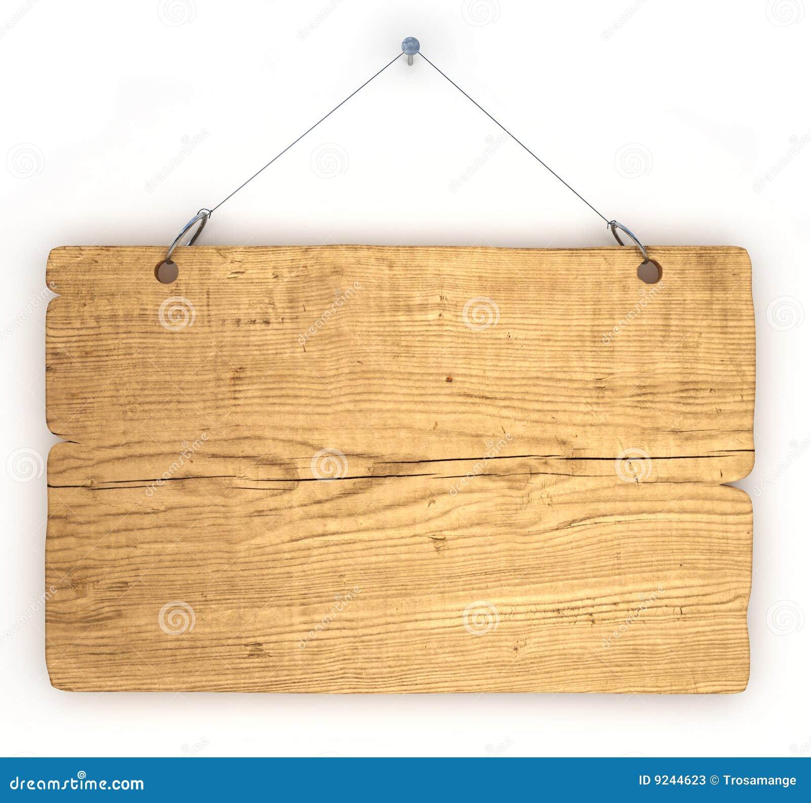 Vecchia scheda di avviso di legno