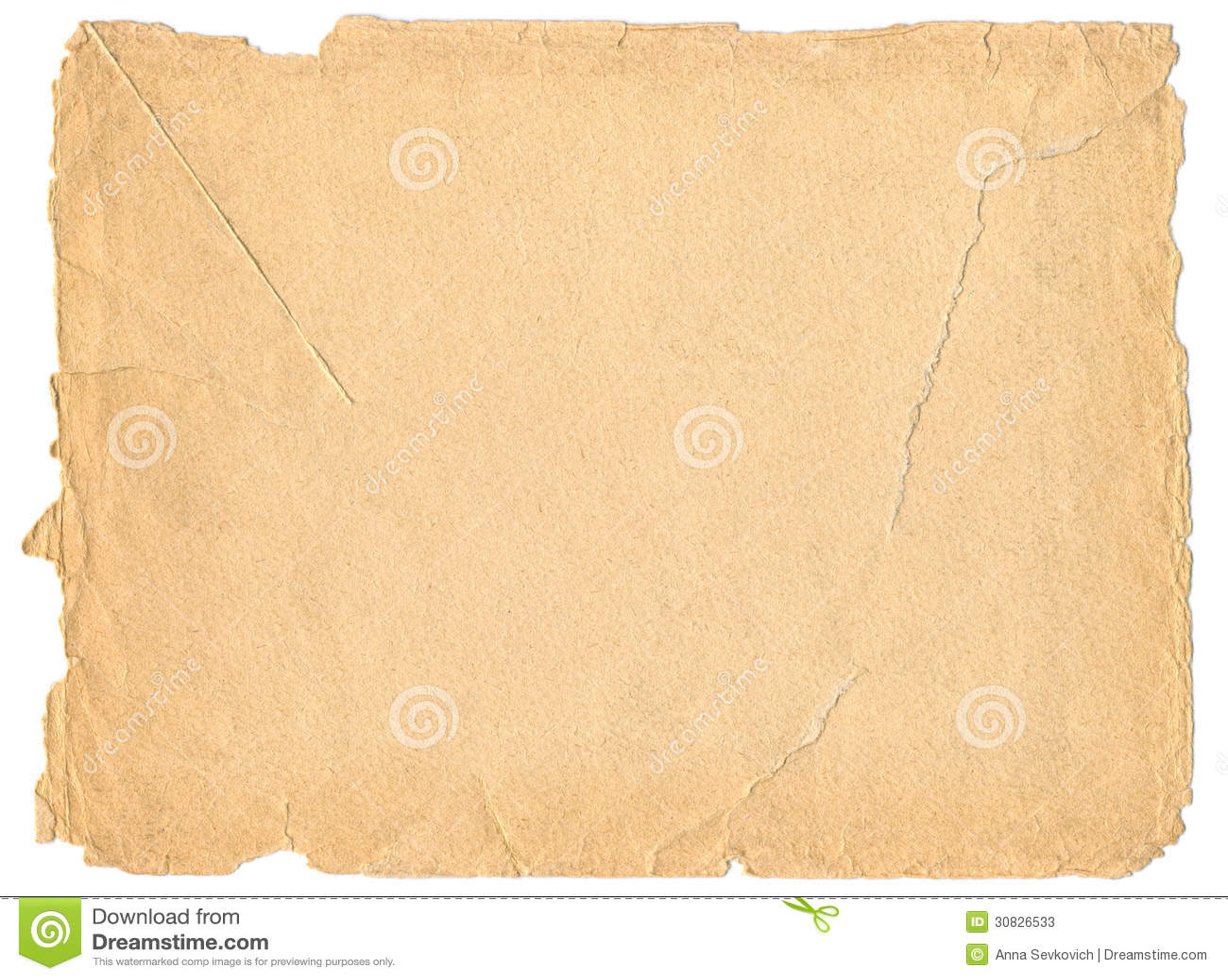 Vecchia struttura di carta