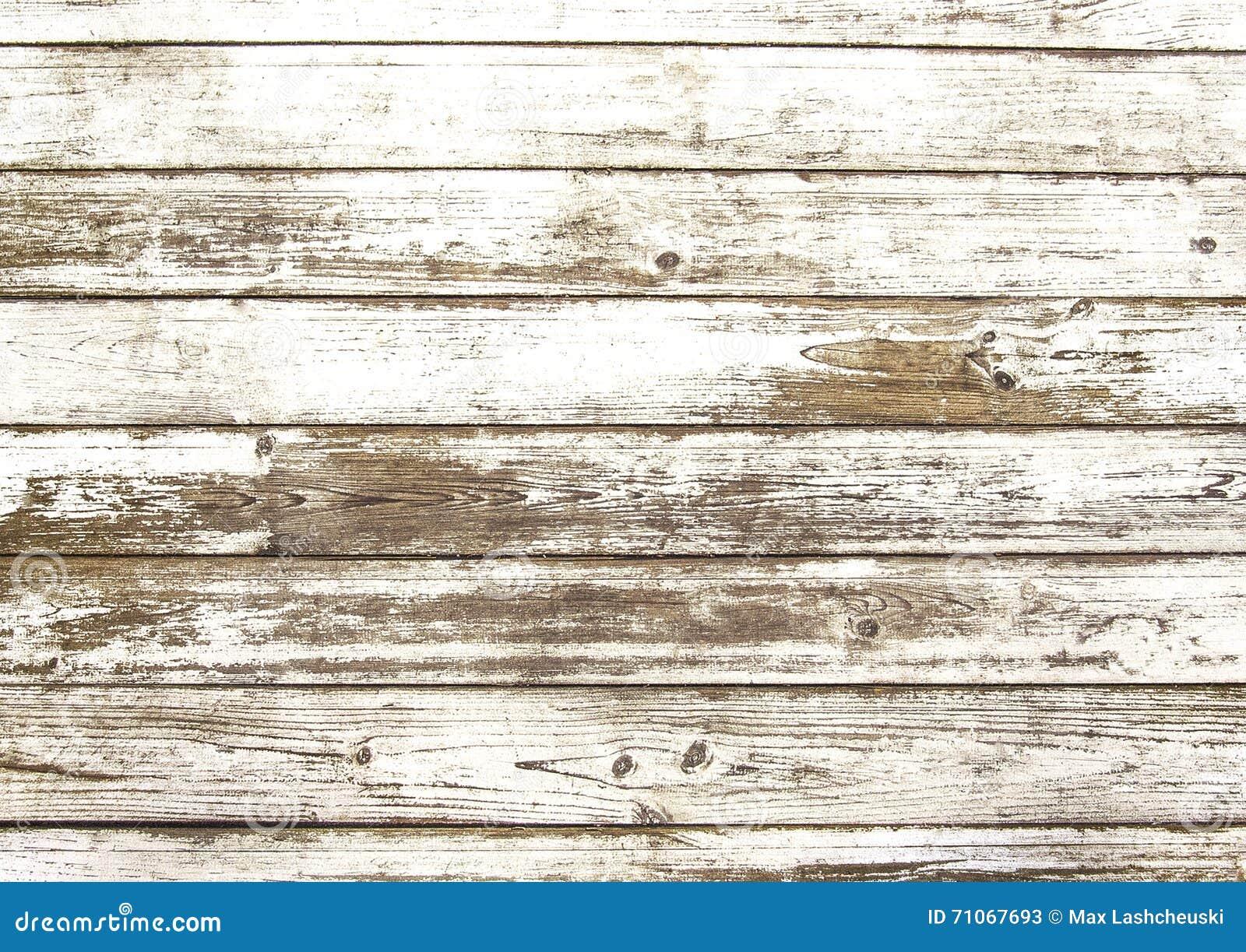 Vecchia struttura di legno bianca graffiata