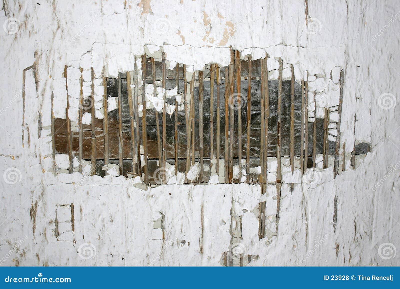 Vecchia struttura rovinata della parete