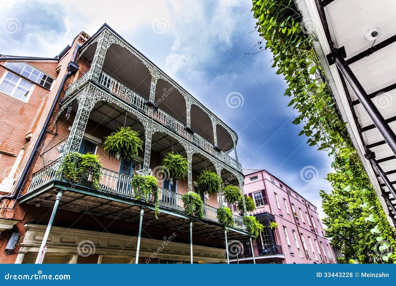Vecchie case di New Orleans in francese