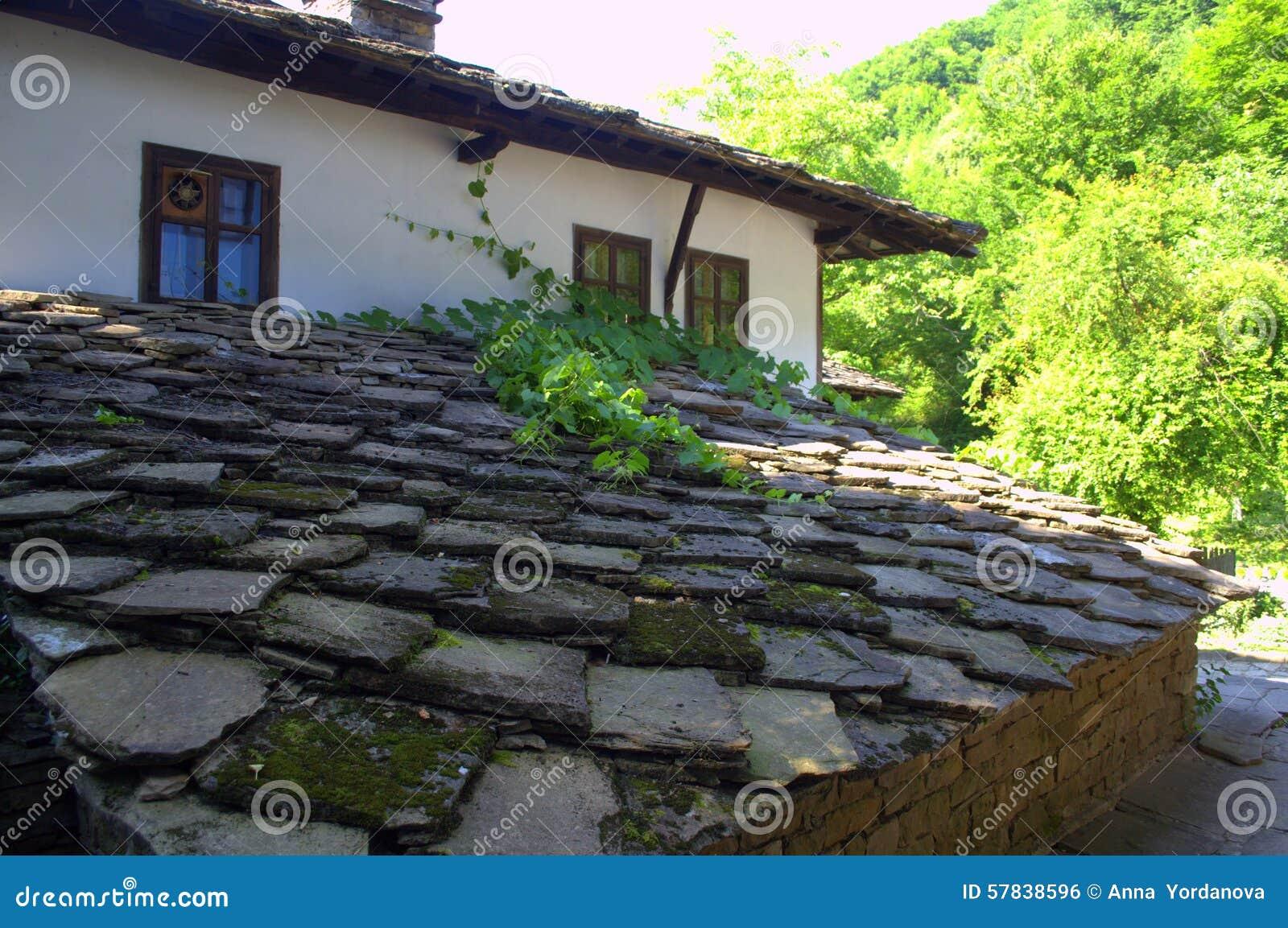 Case In Pietra Di Montagna : Mogrovejo è un villaggio nella scenario di montagna di picos de