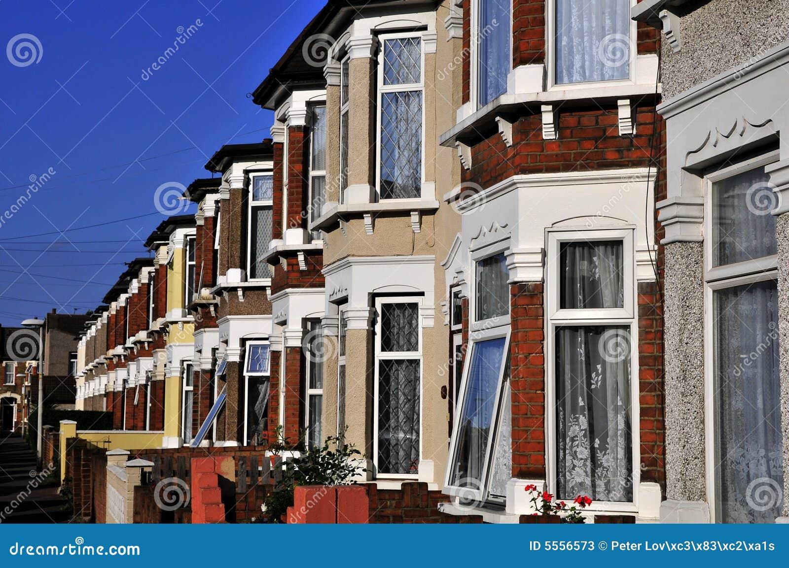 Vecchie case inglesi immagine stock immagine di reale for Case inglesi foto