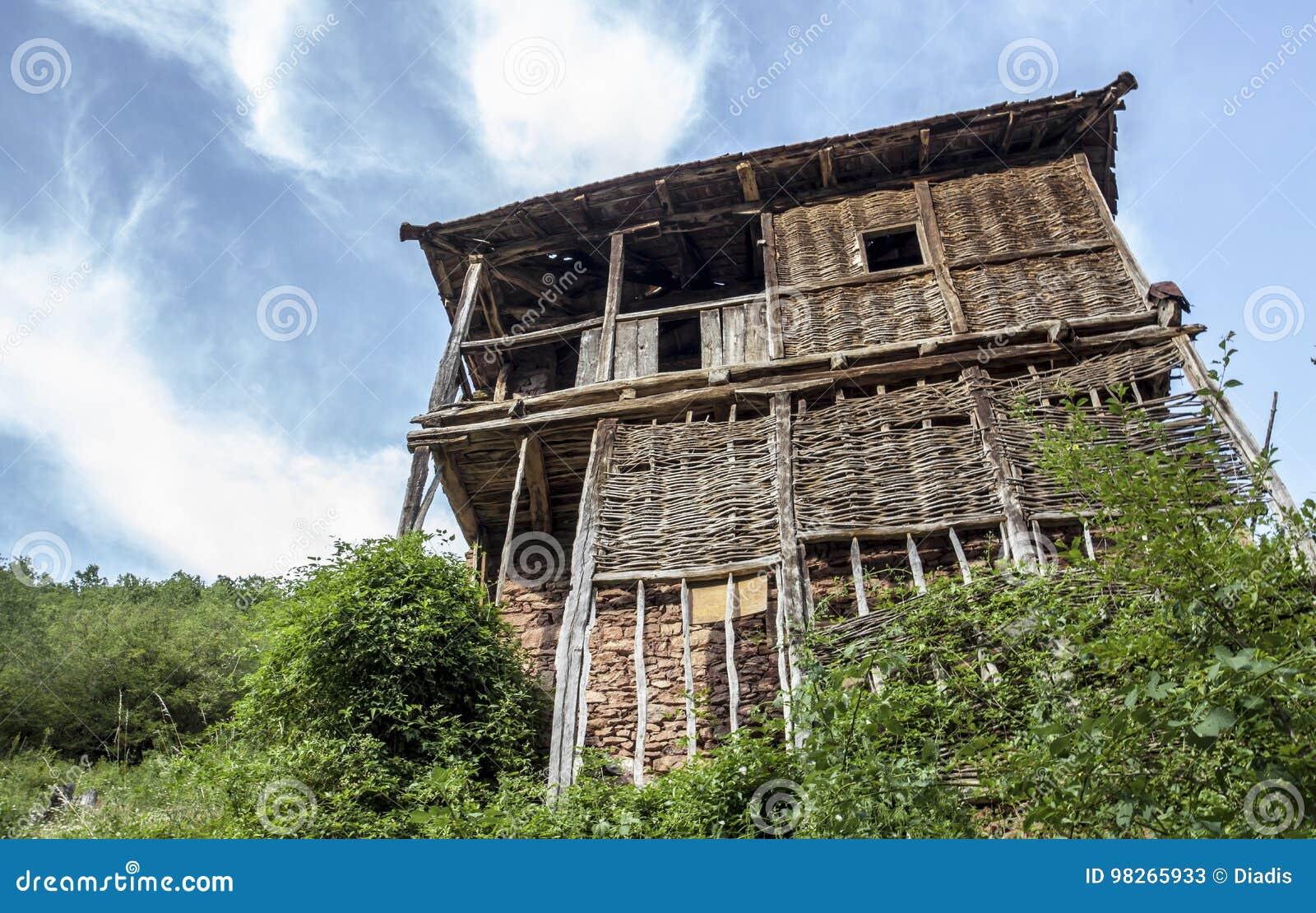 Vecchie Case Rustiche In Un Villaggio Nel Mackintosh Di Demir Khisar