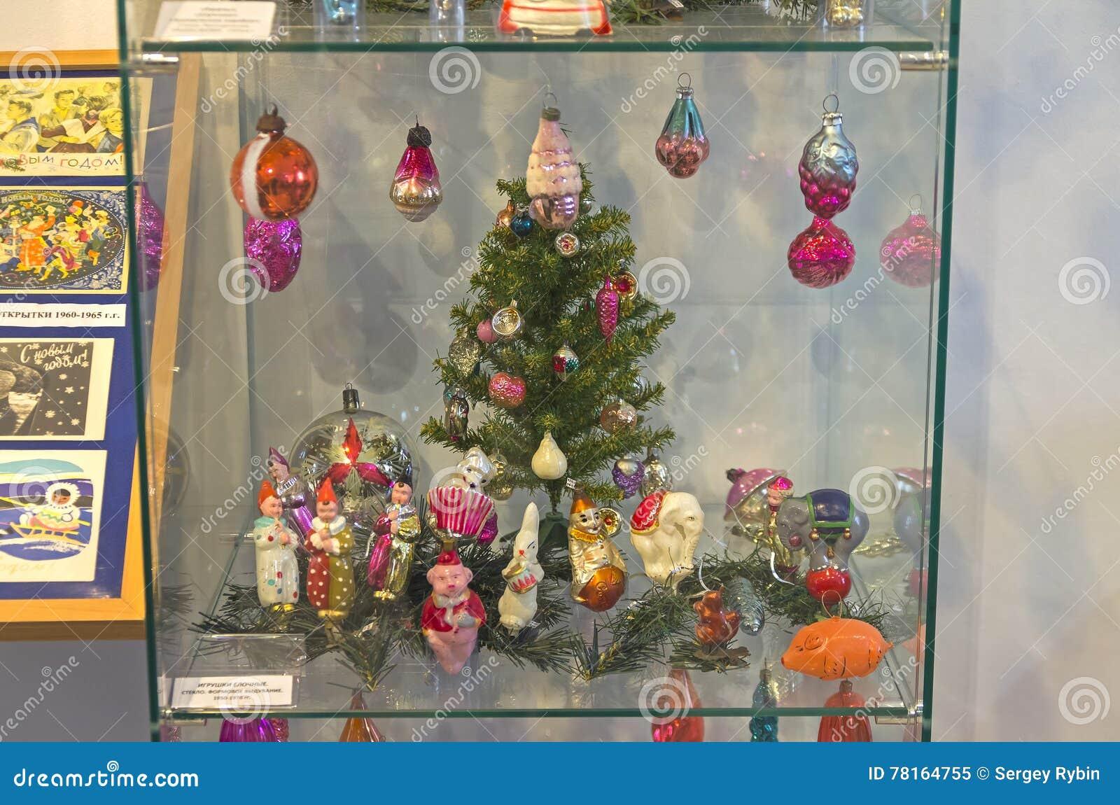 Decorazioni Natalizie Anni 50.Vecchie Decorazioni Di Natale Sul Tema Del Circo Immagine Editoriale