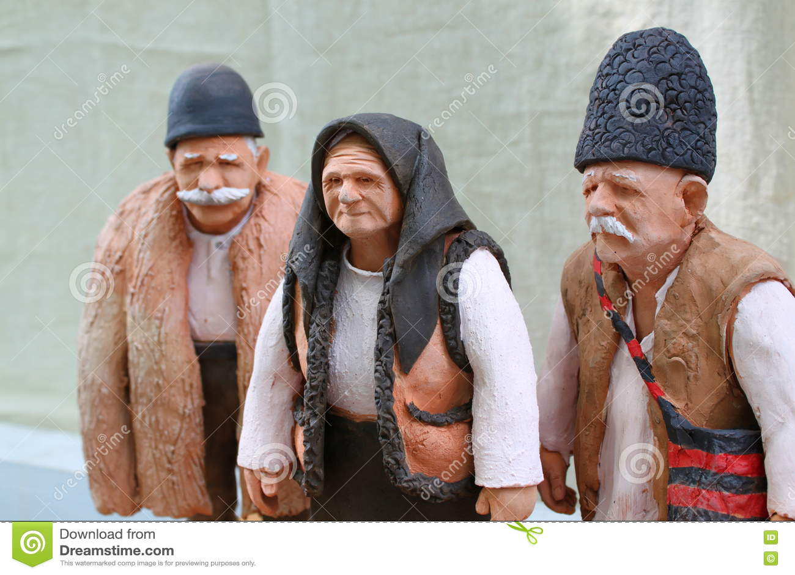 Vecchie figure dell argilla