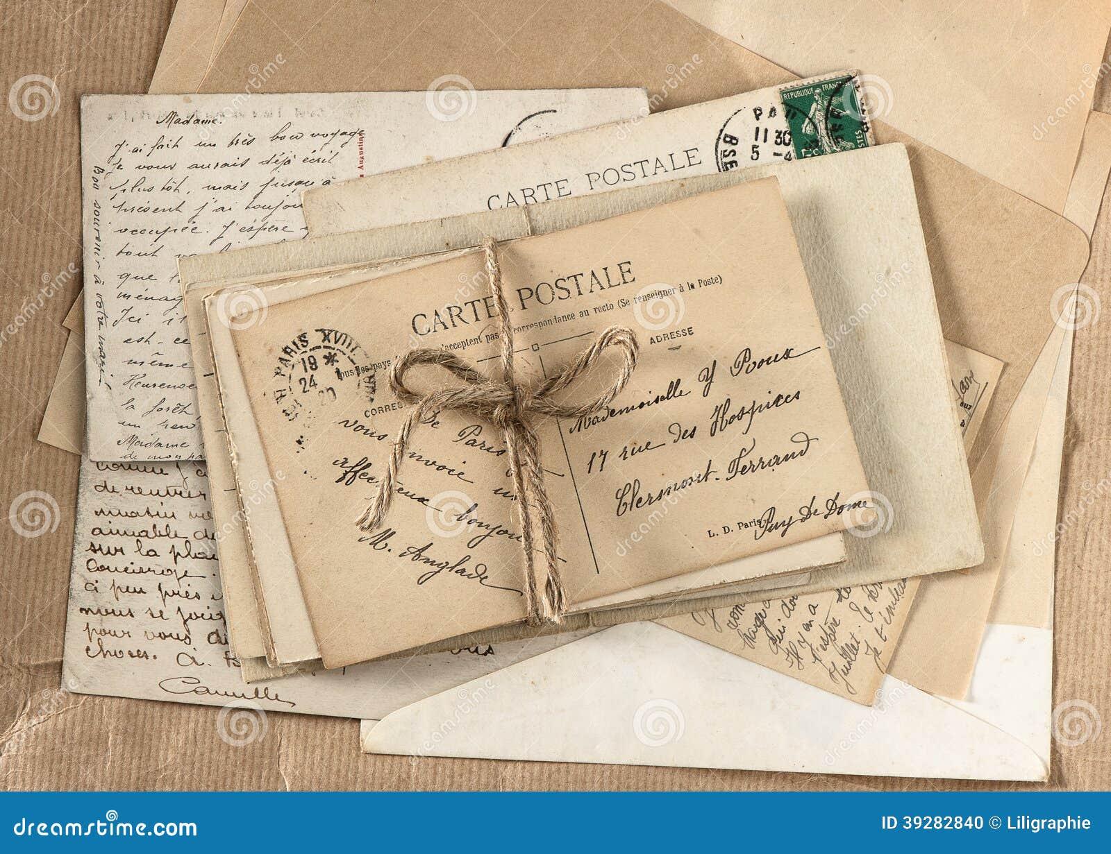 Vecchie lettere e cartoline francesi antiche fotografia for Foto di case antiche