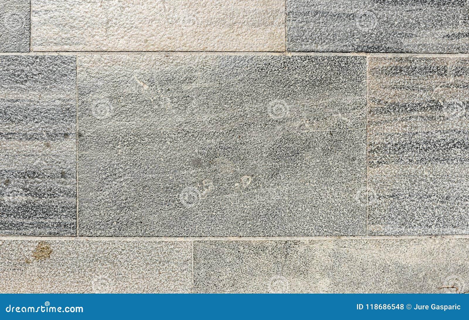 Vecchie Mattonelle Del Terrazzo Del Granito Dell\'esterno Sporco ...