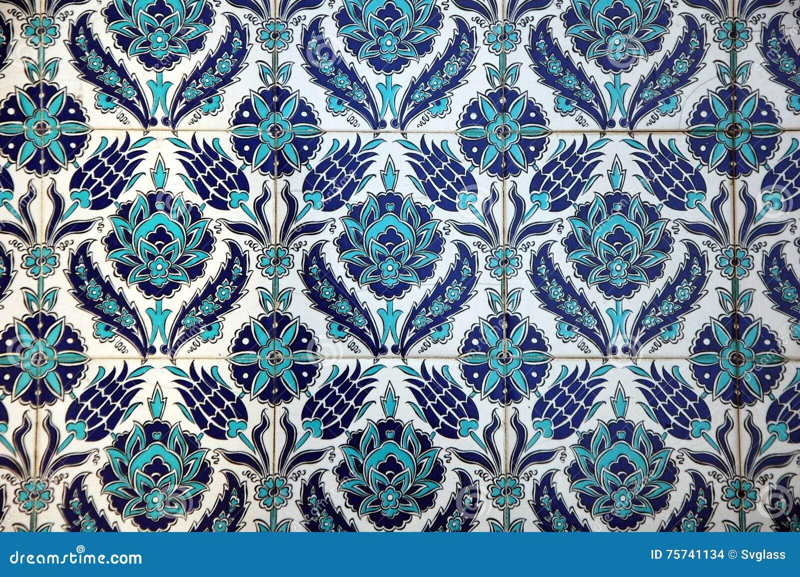 Vecchie mattonelle orientali ceramiche fotografia stock immagine
