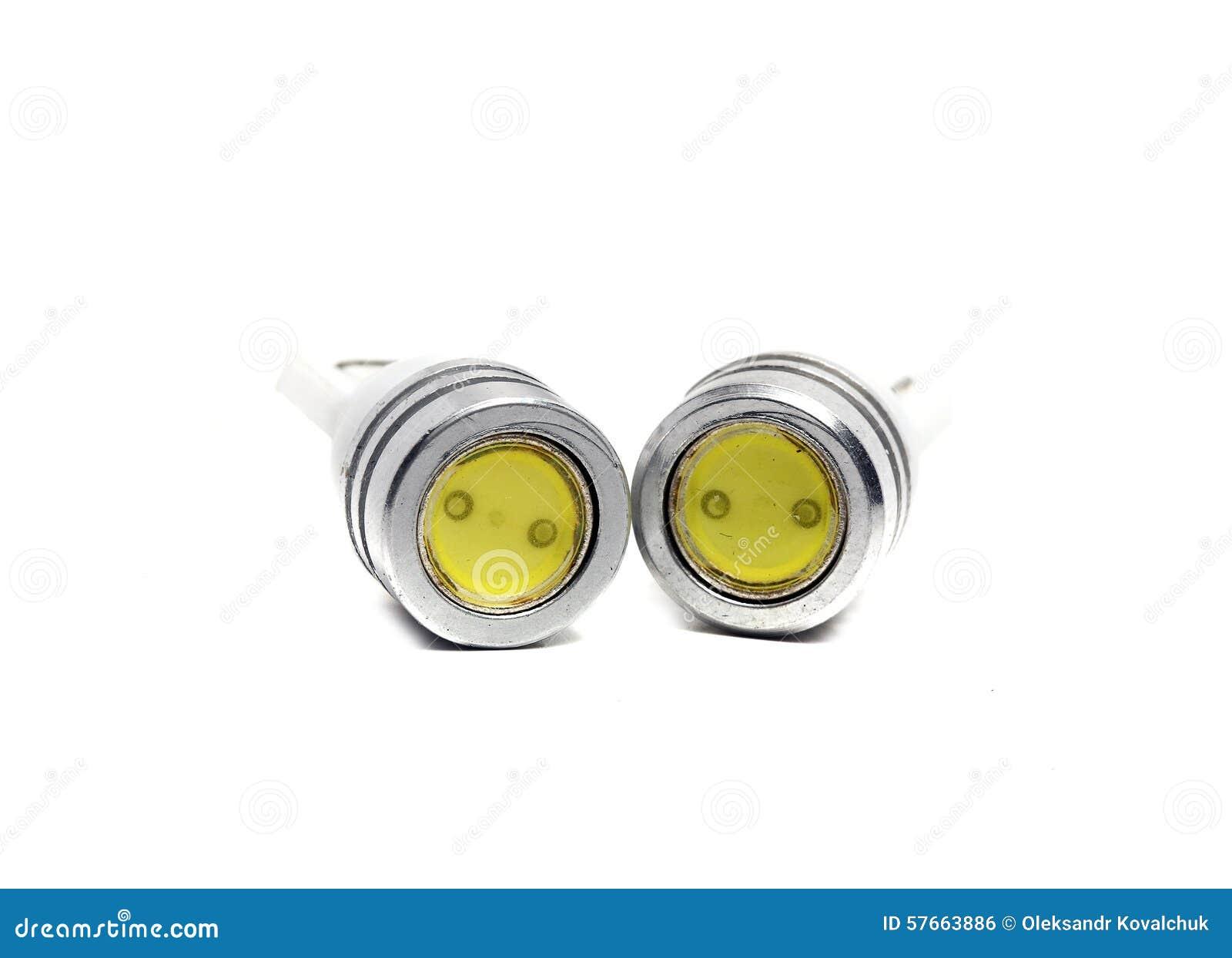 Lampadine A Led Piccole.Vecchie Piccole Lampadine Del Led Fotografia Stock