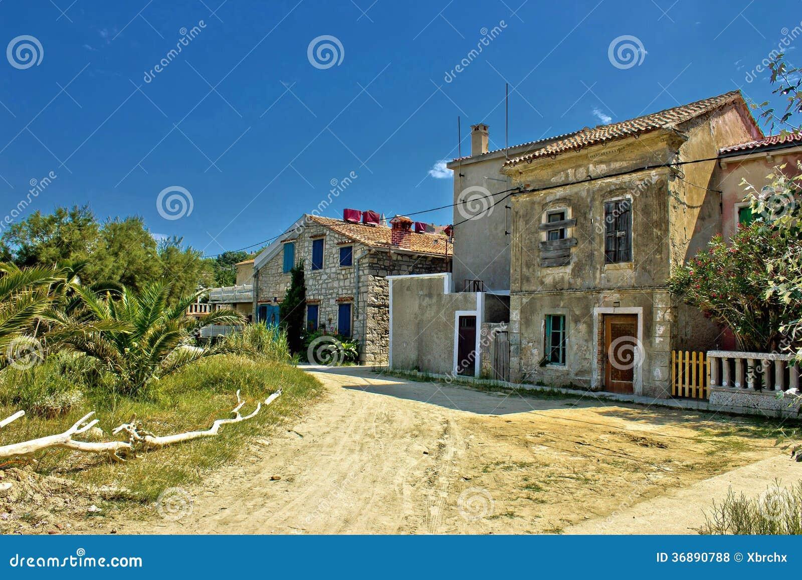 Download Vecchie Vie Dell'isola Di Susak Fotografia Stock - Immagine di storico, dalmatian: 36890788