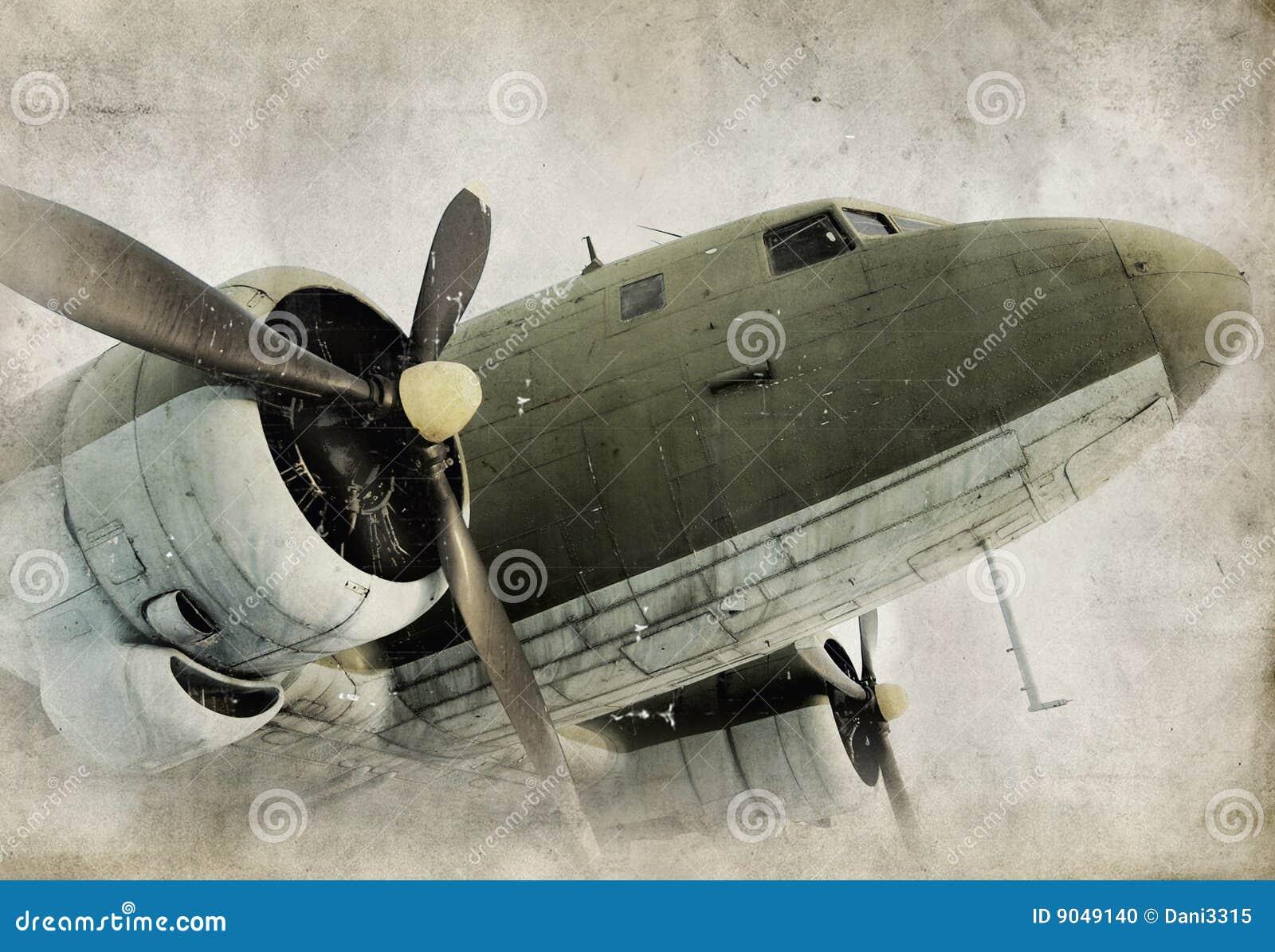 Vecchio aeroplano dell elica