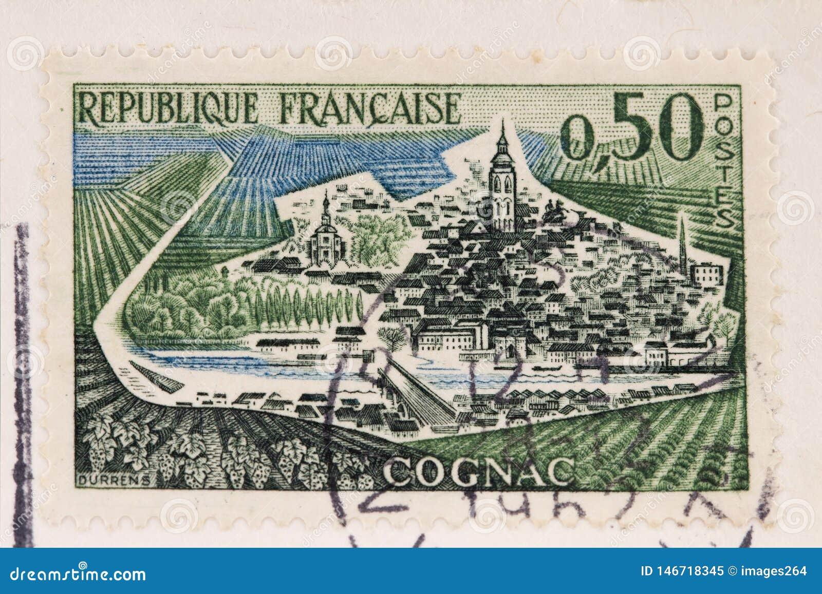 Vecchio bollo francese della posta