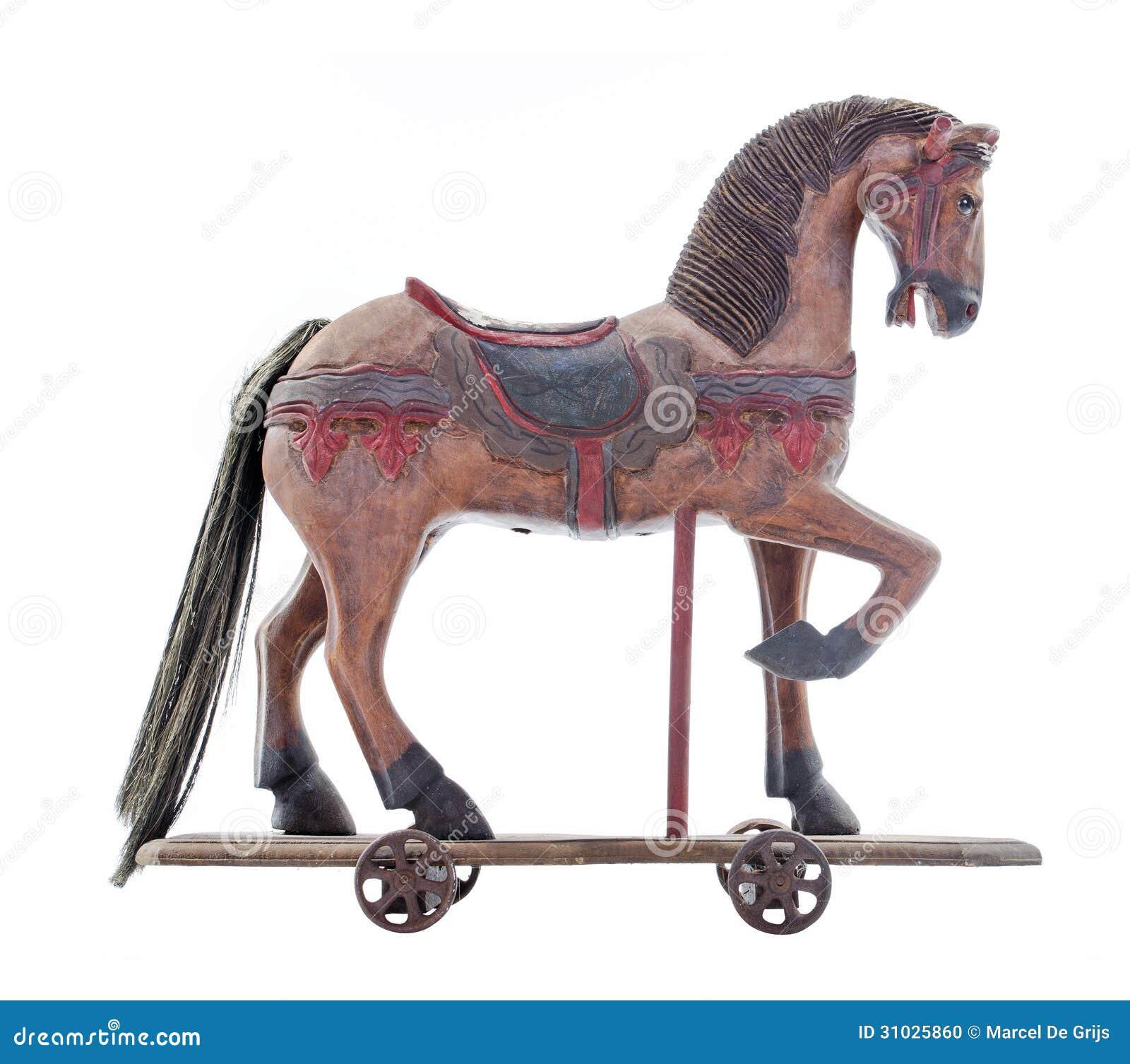 Cavallo Di Legno Giocattolo.Vecchio Cavallo Di Legno Del Giocattolo Fotografia Stock