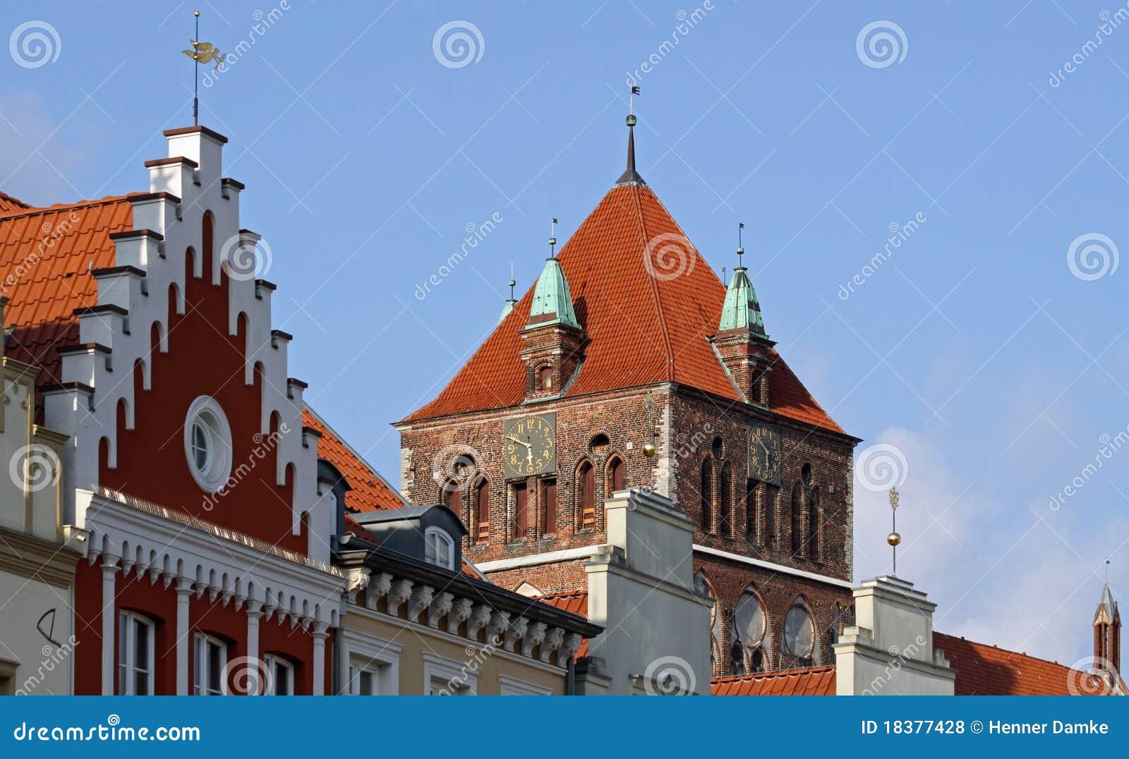 Vecchio centro di Greifswald (Germania) 01