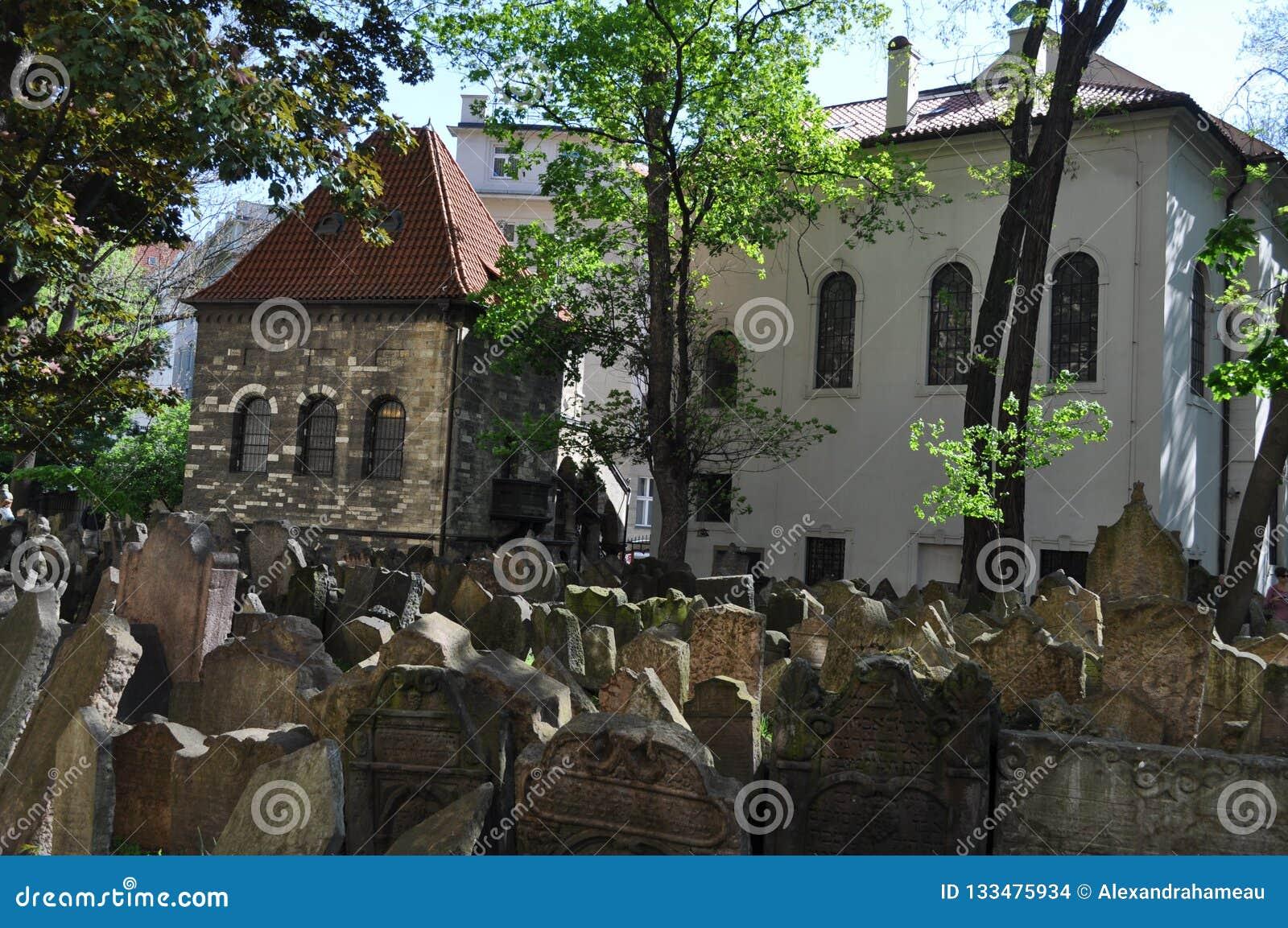 Vecchio cimitero ebreo, Praga, repubblica Ceca