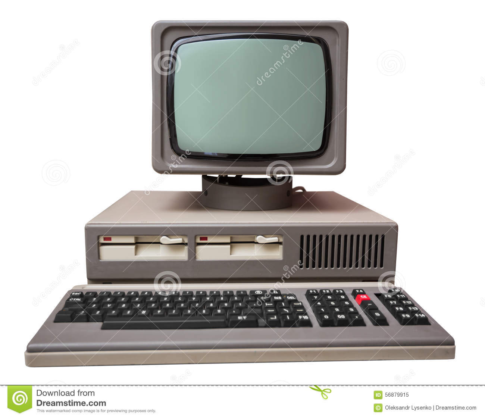 Vecchio computer grigio