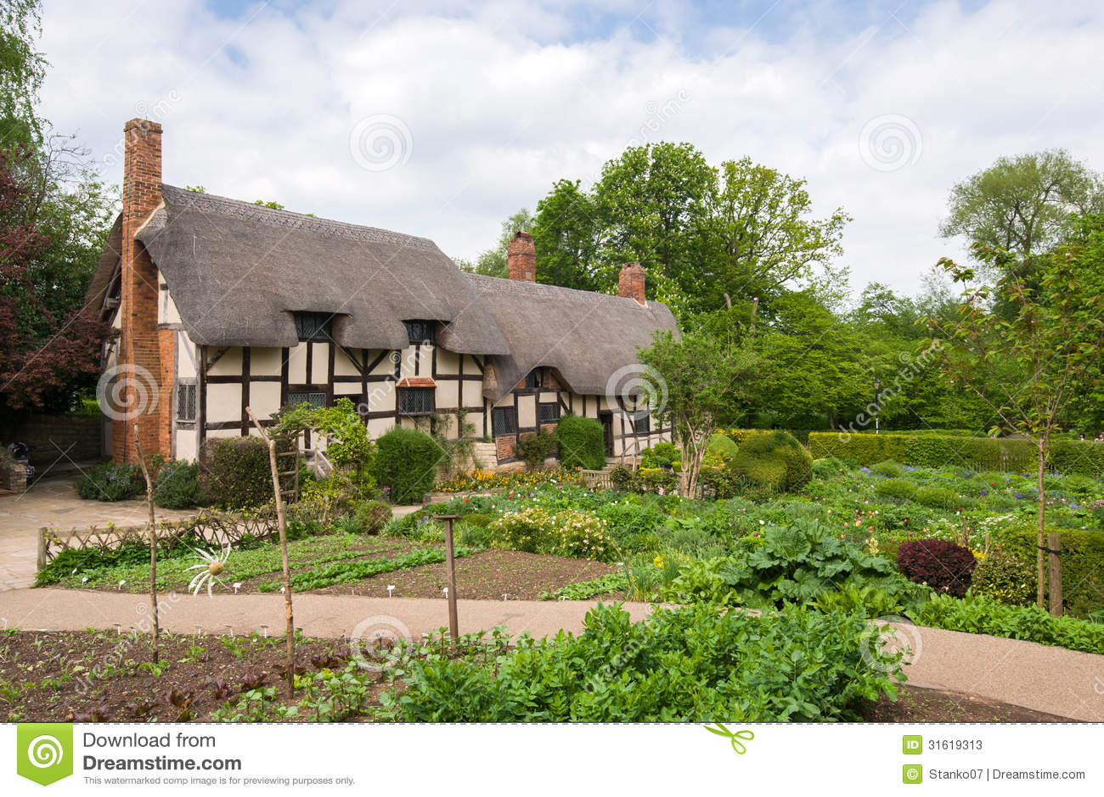 vecchio cottage inglese rurale fotografie stock immagine