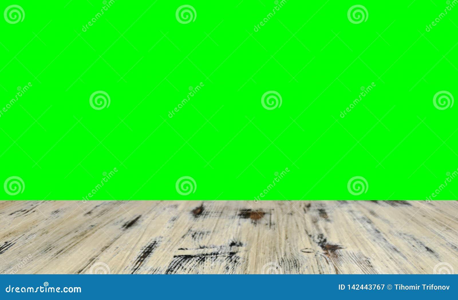 Vecchio dipinto ha lavato la tavola sui precedenti verdi chiave della parete dello schermo dell intensità confusa, tavola di legn