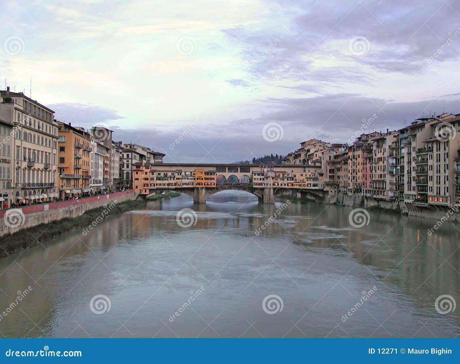 Vecchio för broflorence italy gammal ponte