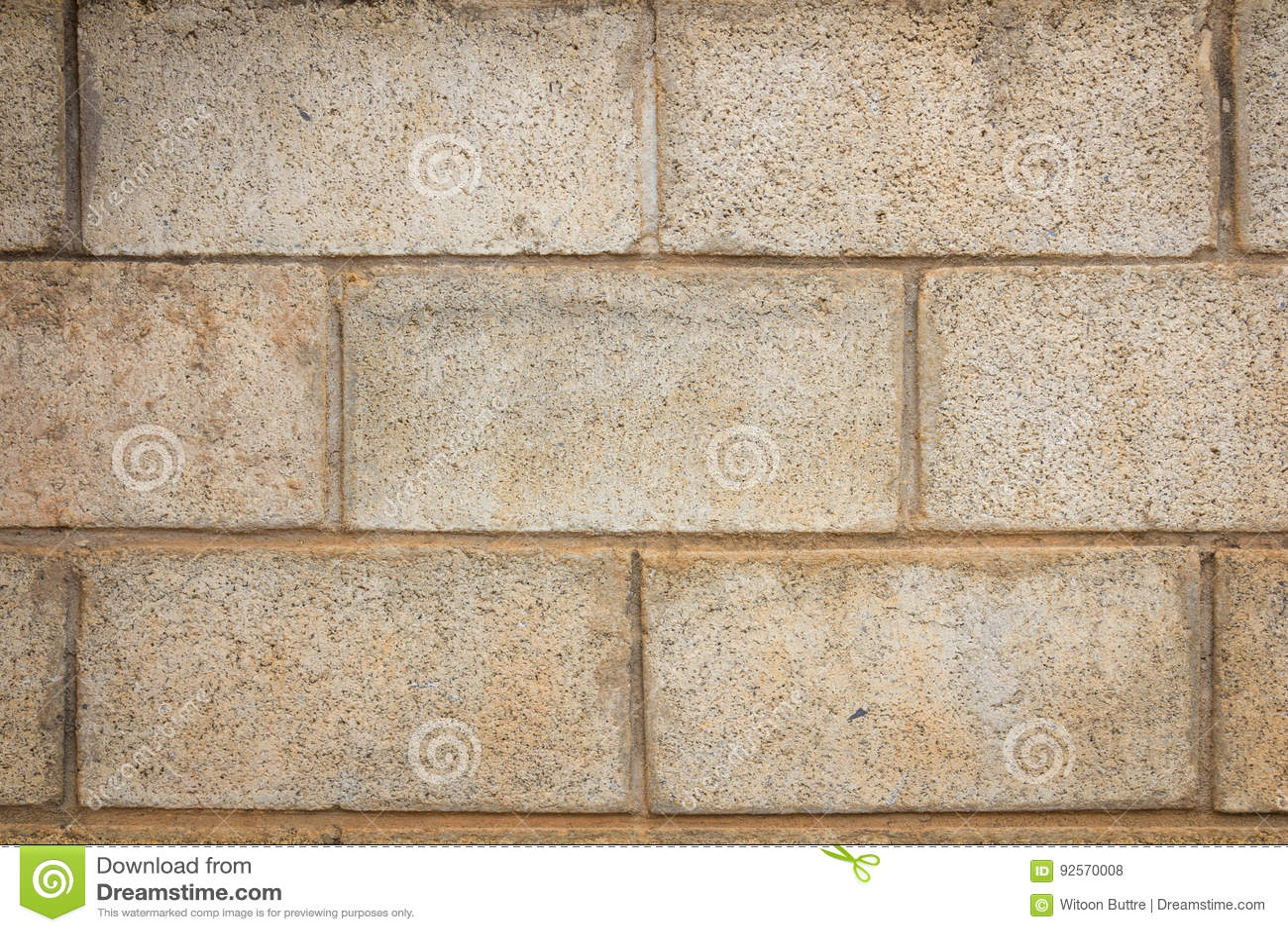 Vecchio fondo della parete del blocco in calcestruzzo