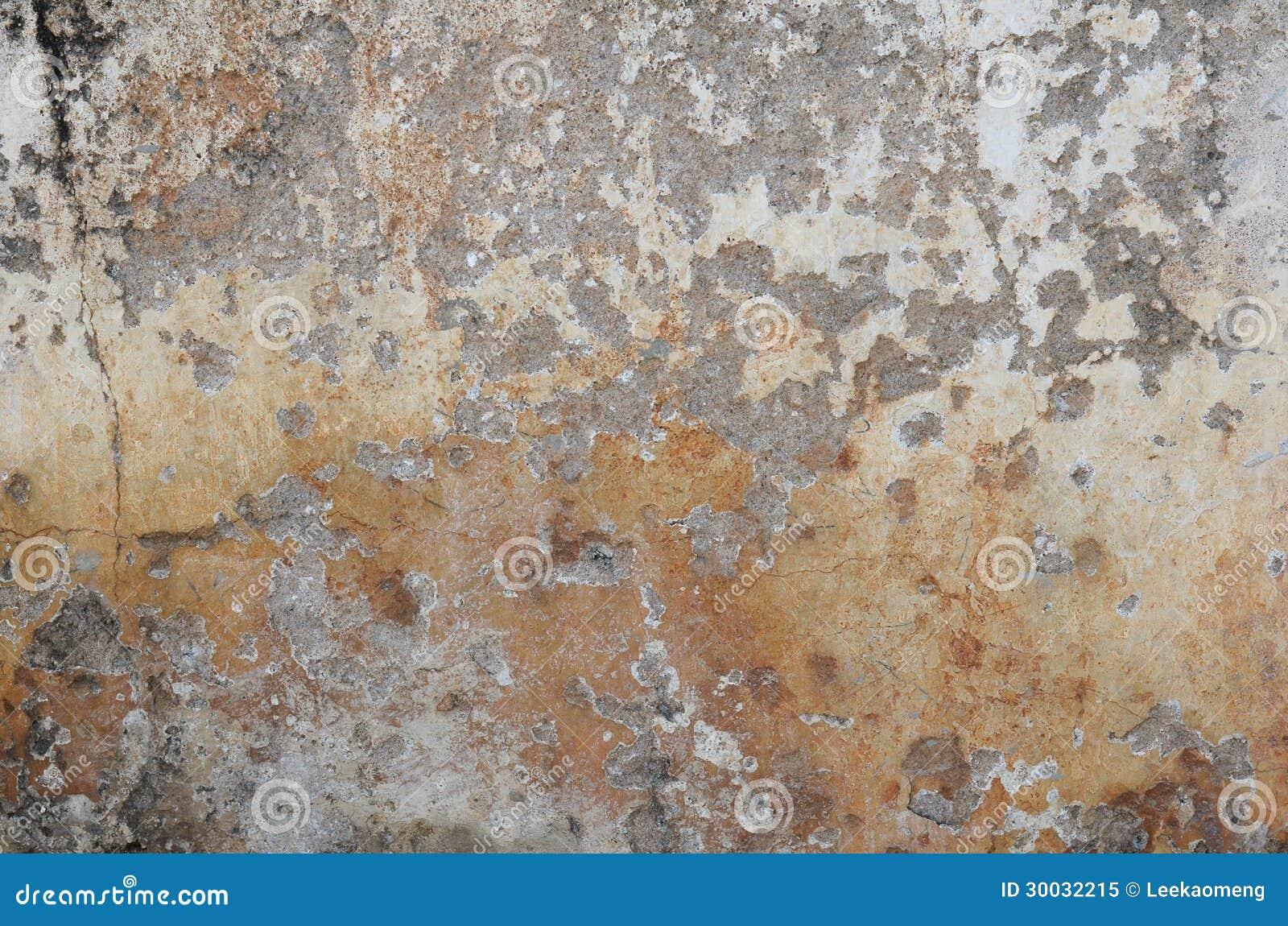 Pittura Effetto Intonaco Invecchiato vecchia superficie della parete dell'intonaco immagine stock