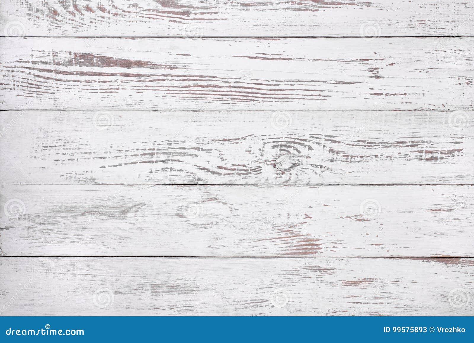 Vecchio fondo di legno bianco, superficie di legno rustica con lo spazio della copia
