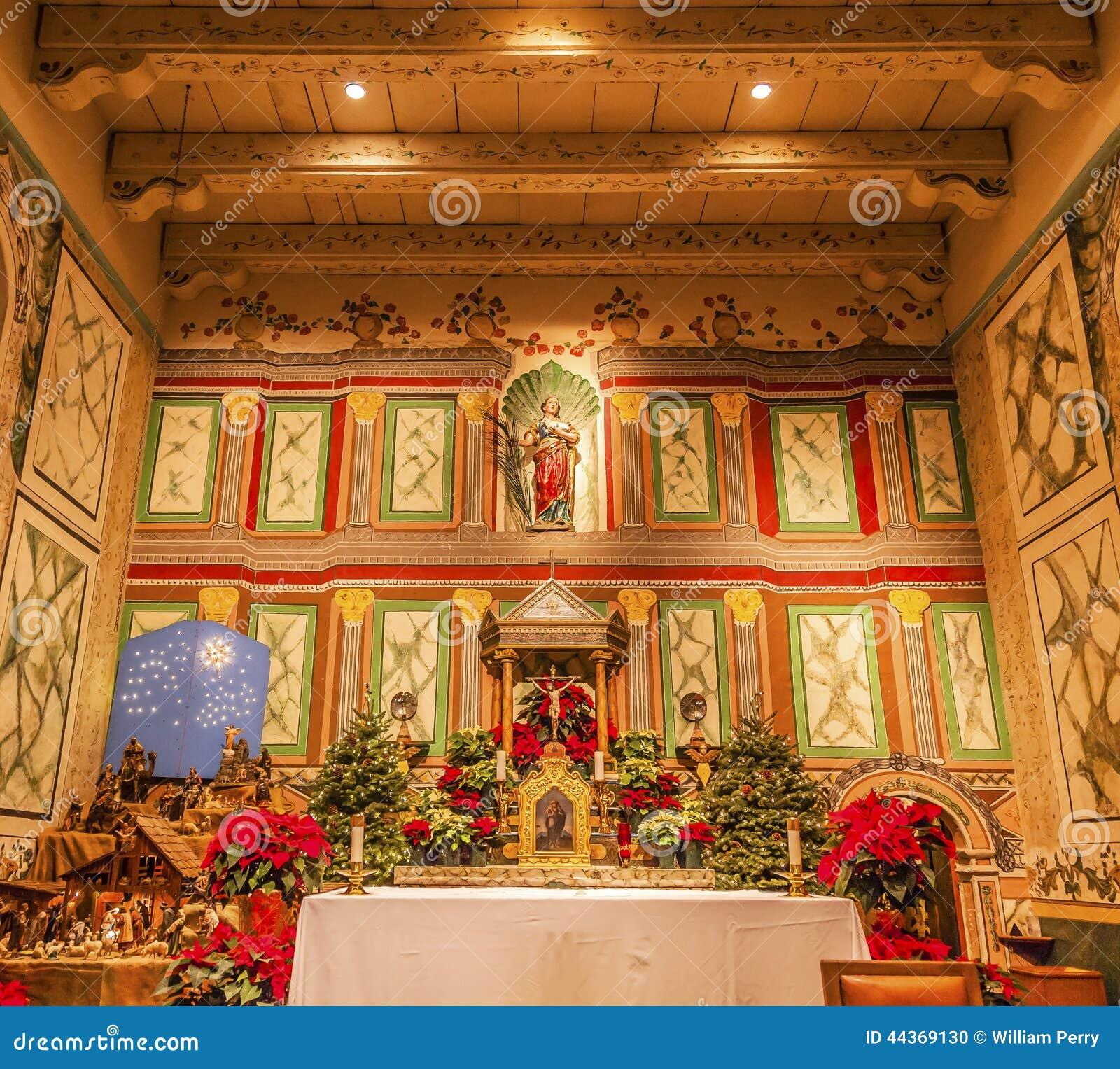 Vecchio incrocio di Santa Ines Solvang California Basilica Altar di missione