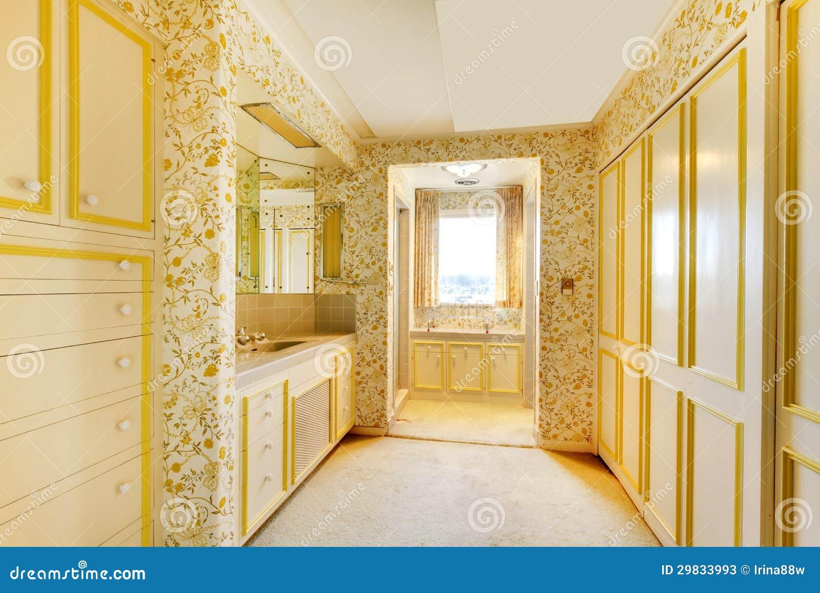 Vecchia camera da letto americana della casa con la carta - Tappeto camera da letto ...