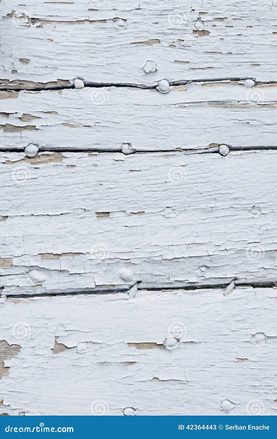 Vecchio legno verniciato bianco