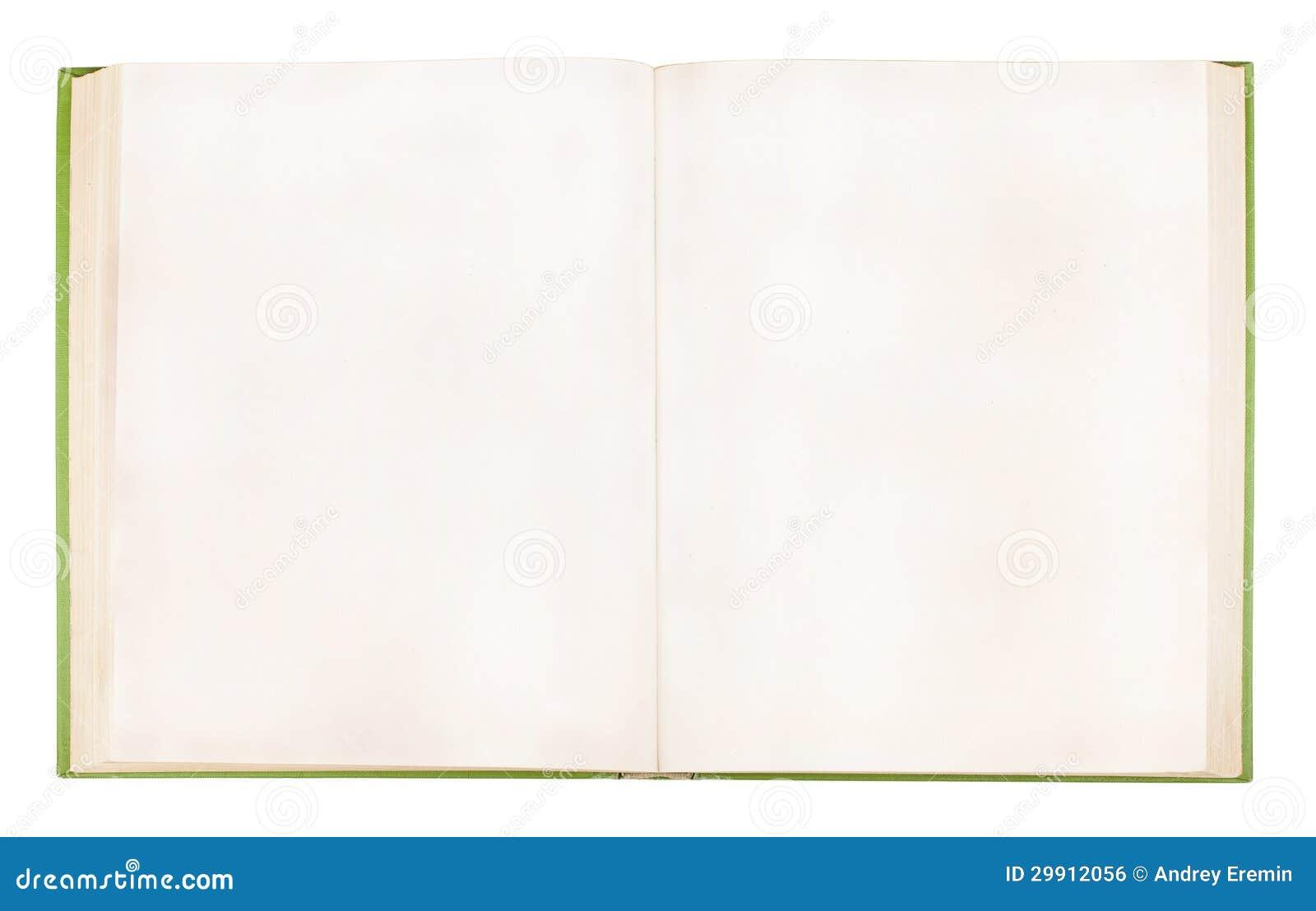Vecchio libro aperto con le pagine vuote fotografia stock - Pagina da colorare di una bibbia ...