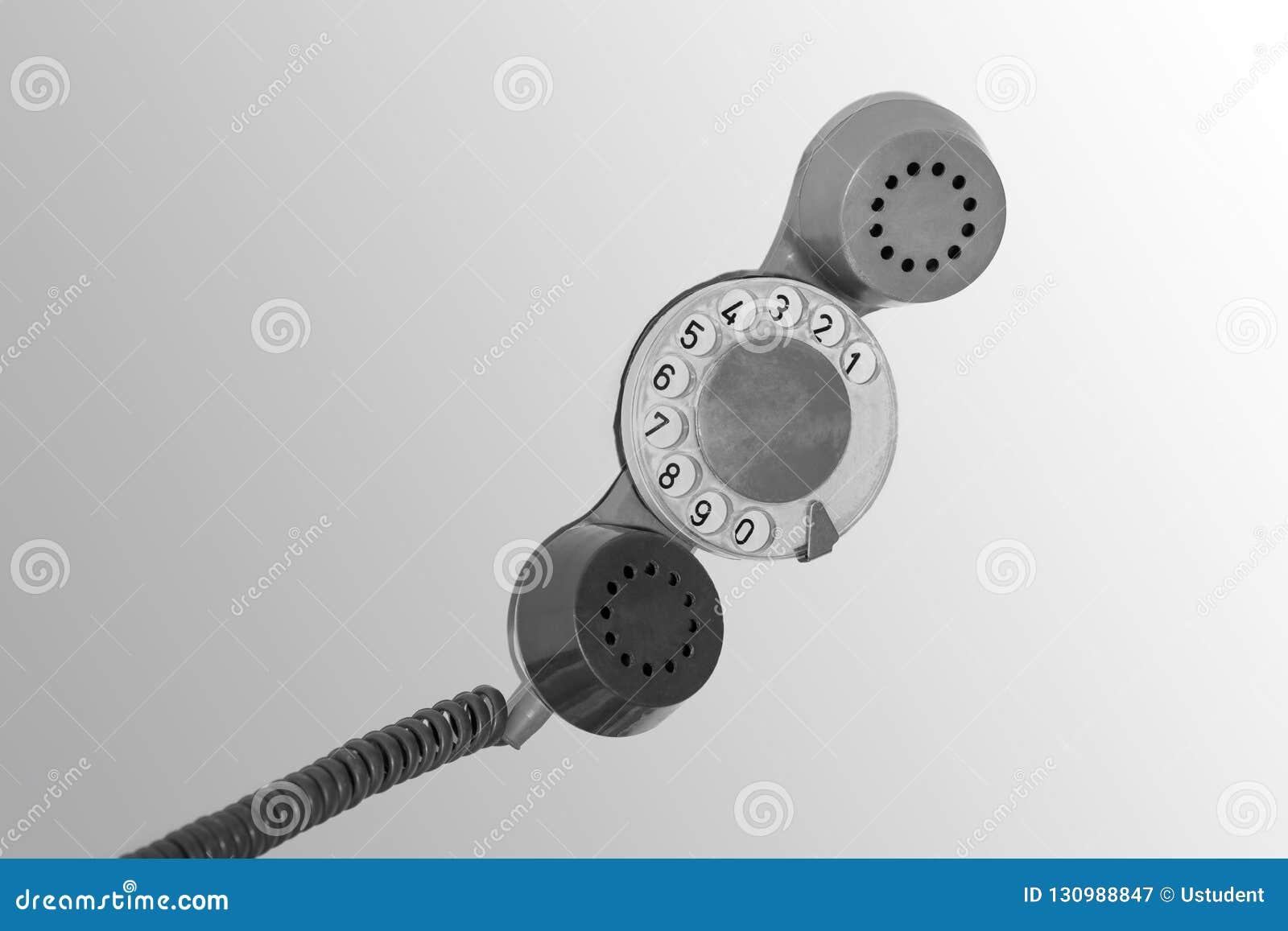 Vecchio microtelefono rosso