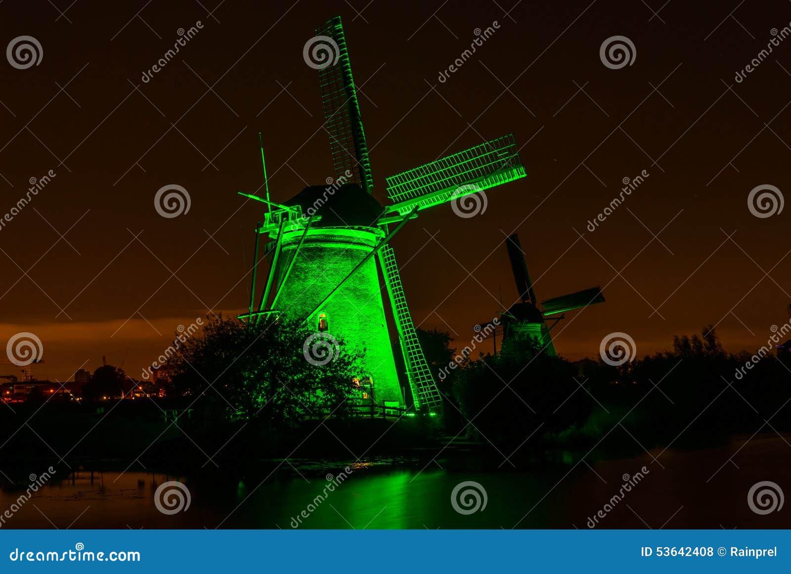Vecchio mulino a vento in Kinderdijk, Paesi Bassi