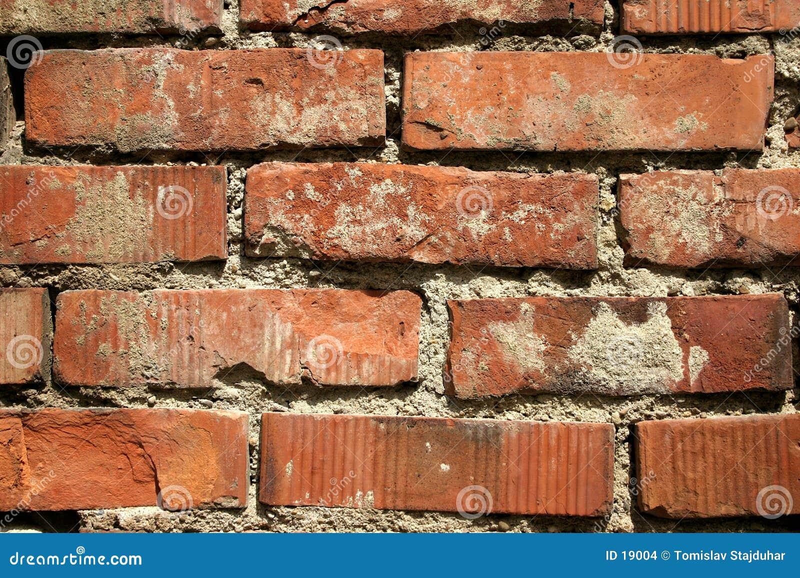 Vecchio muro di mattoni rosso