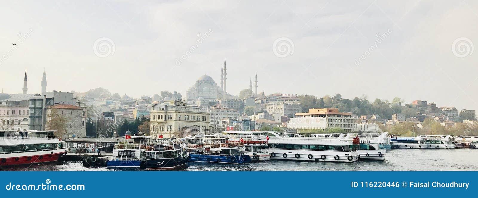 Vecchio orizzonte della città - Costantinopoli, Turchia