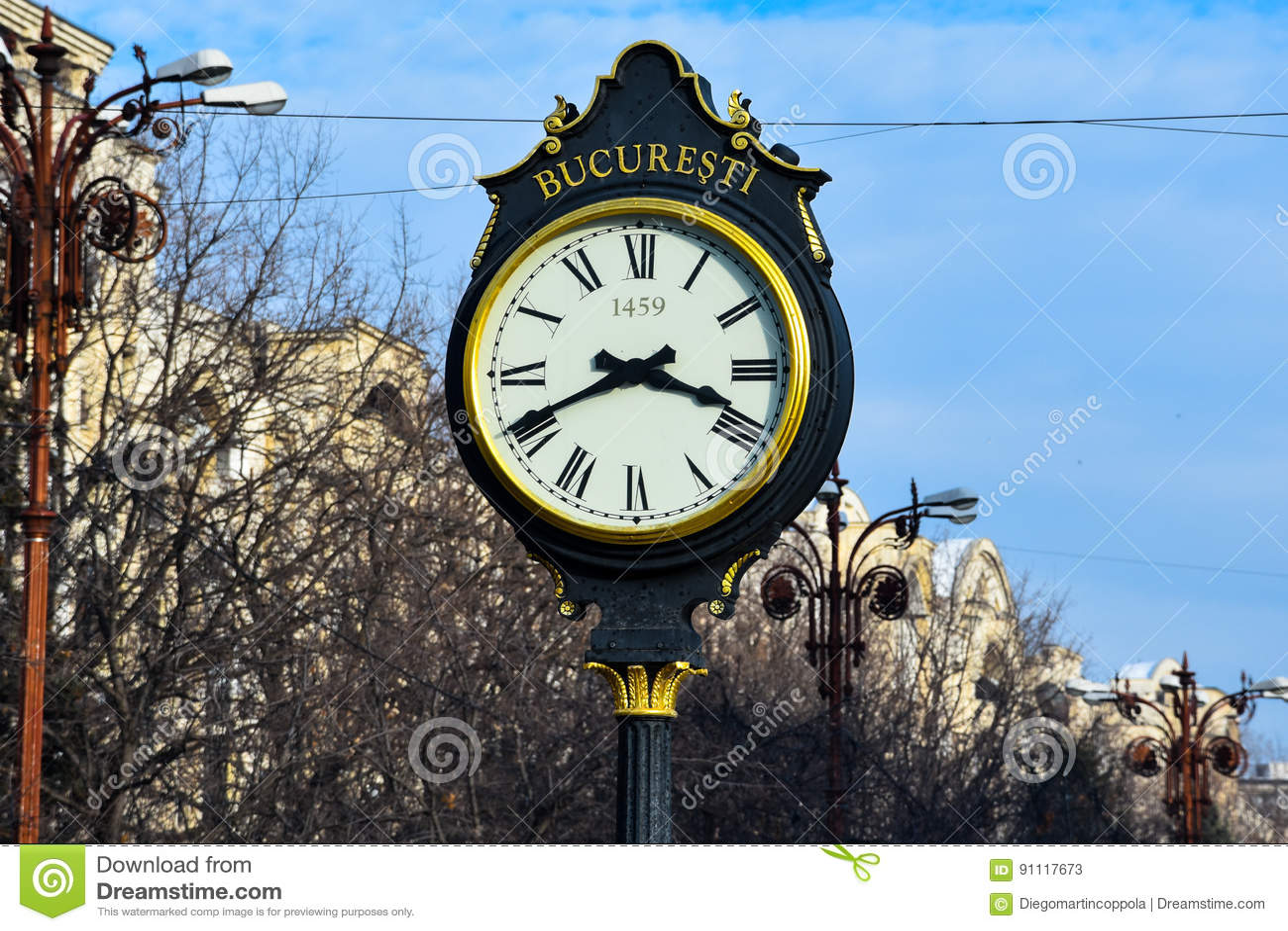 Vecchio orologio al boulevard del sindacato