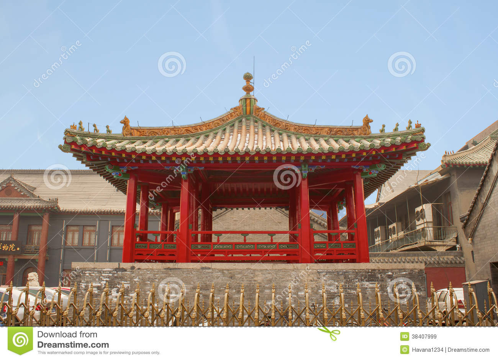 Vecchio Palazzo Imperiale La Città Proibita Cina Di Shenyang Pechino  Immagine Stock - Immagine di cina, città: 38407999