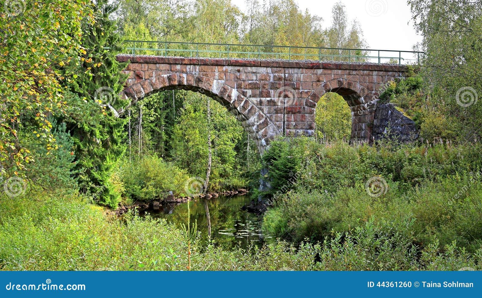 Vecchio ponte della ferrovia in Finlandia centrale