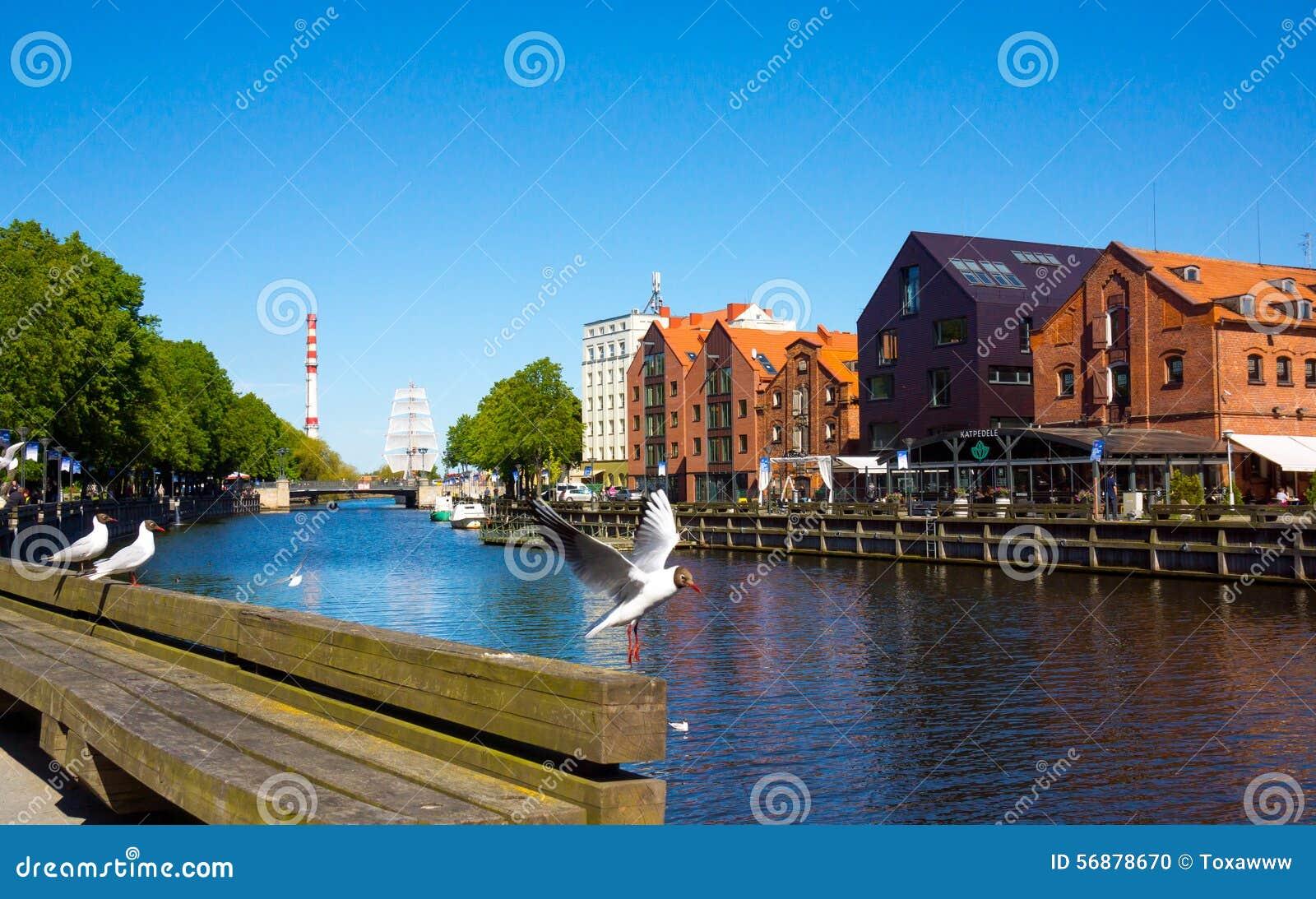 Vecchio porto del castello di Klaipeda