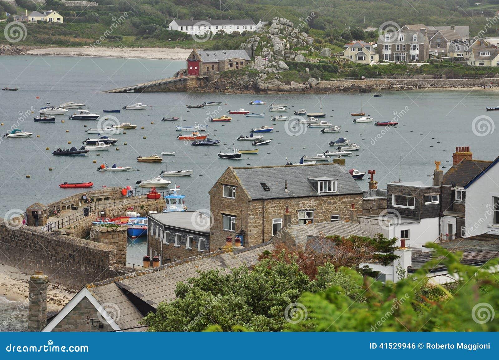 Vecchio porto di St Mary, isole di Scilly, Inghilterra, Regno Unito