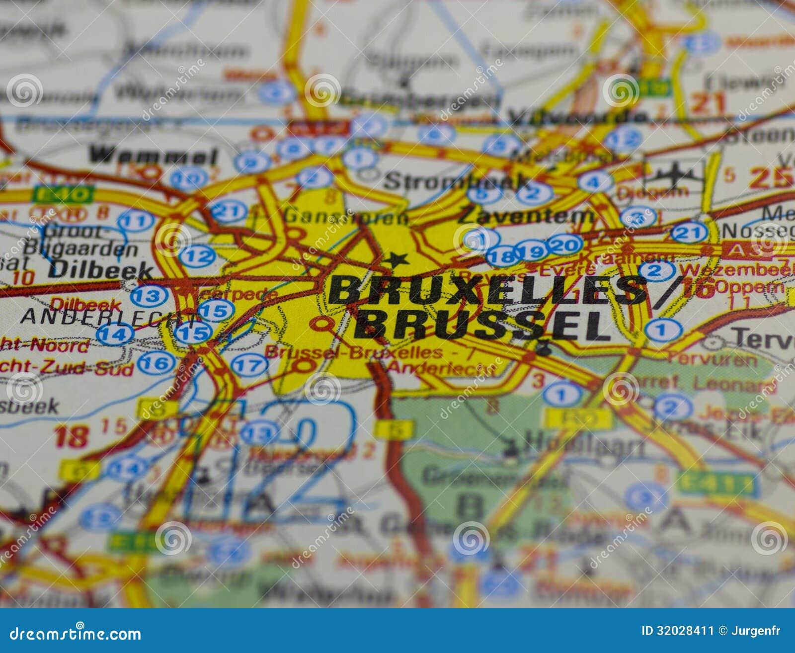 Vecchio programma di strada di Bruxelles