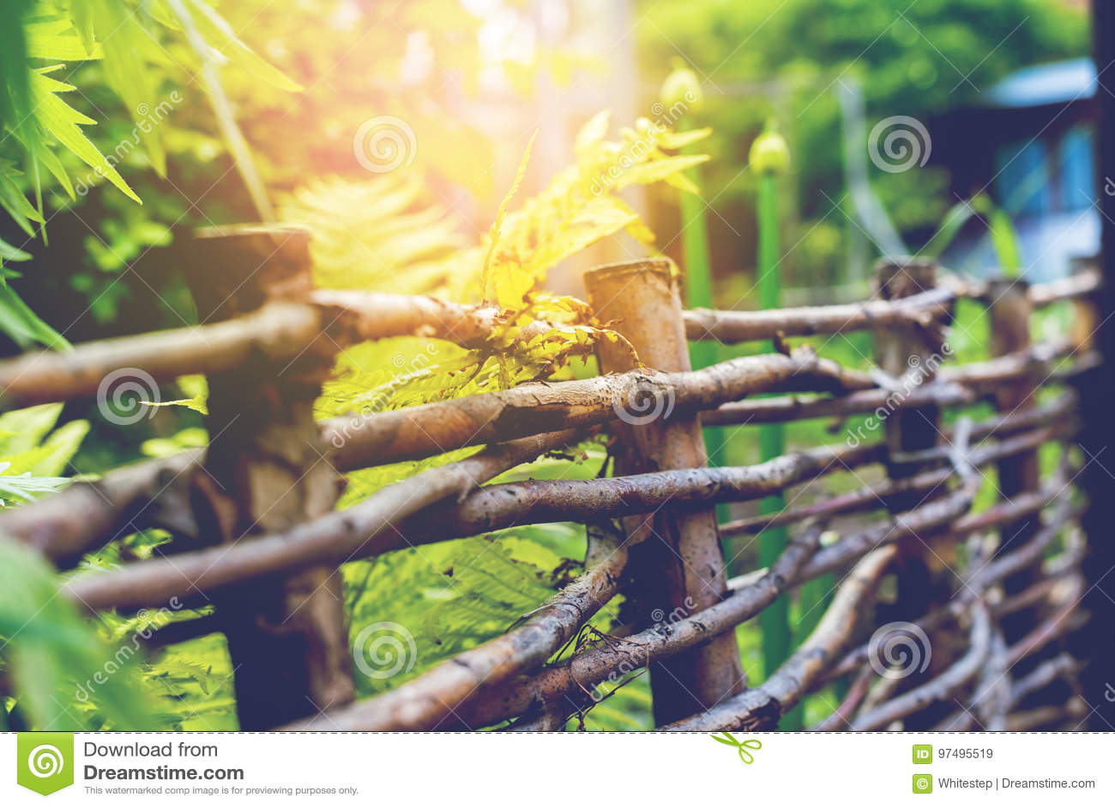 Vecchio recinto rurale di legno Outdoor Scene