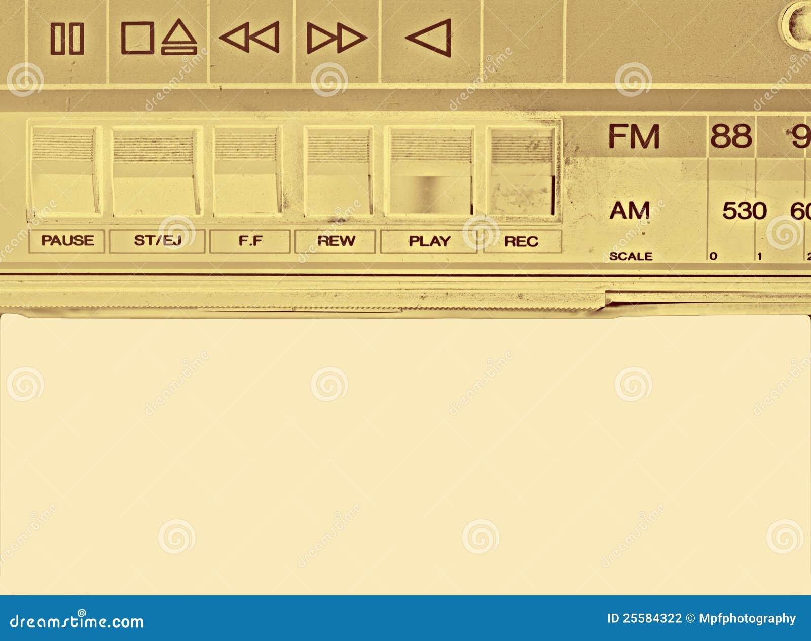 Vecchio registratore di nastro