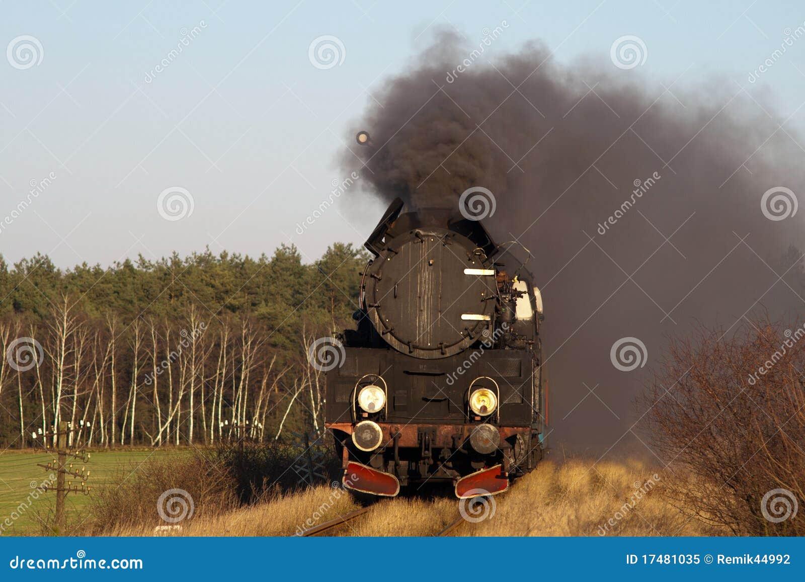 Vecchio retro treno del vapore