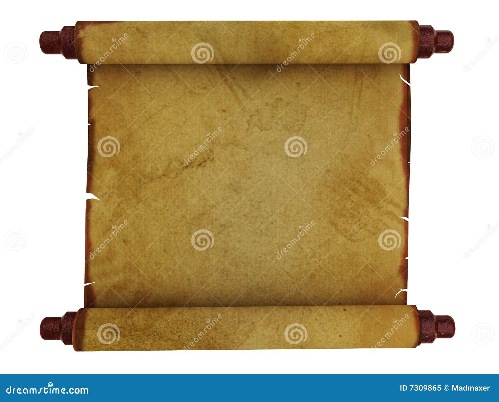 Vecchio rotolo di carta