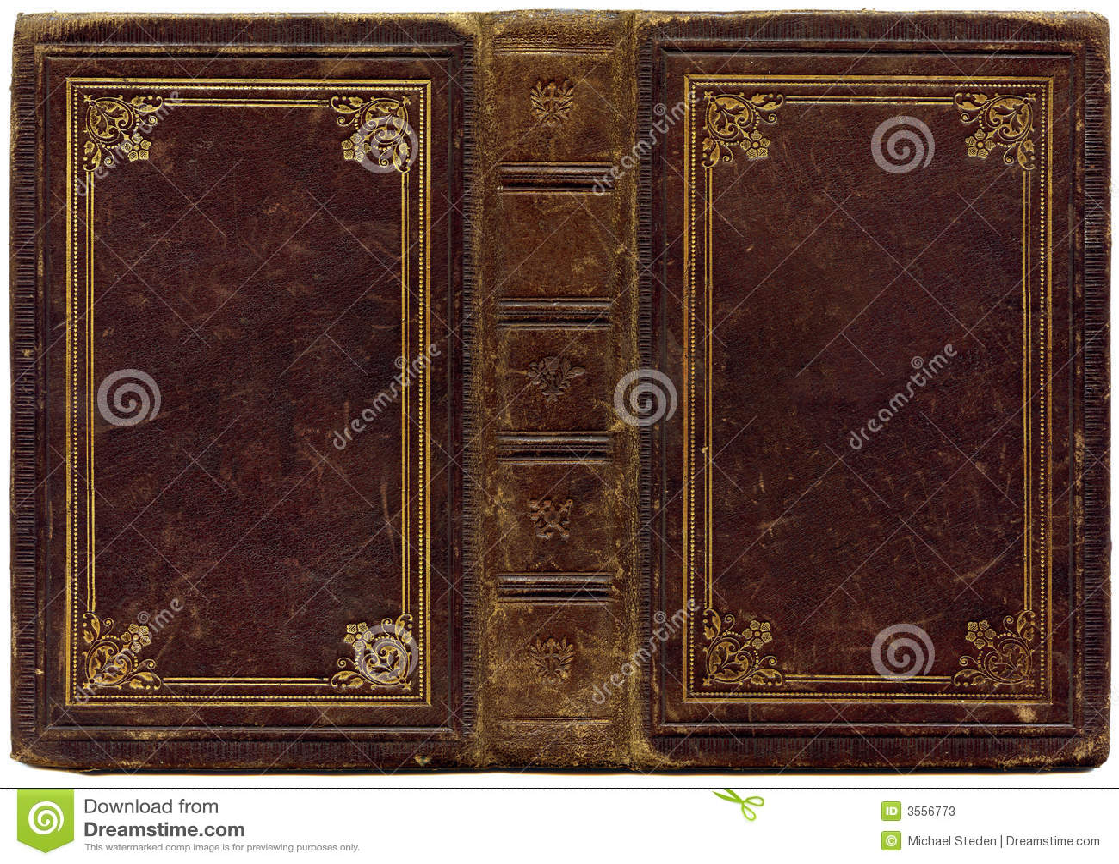 Vecchio songbook di cuoio 1890