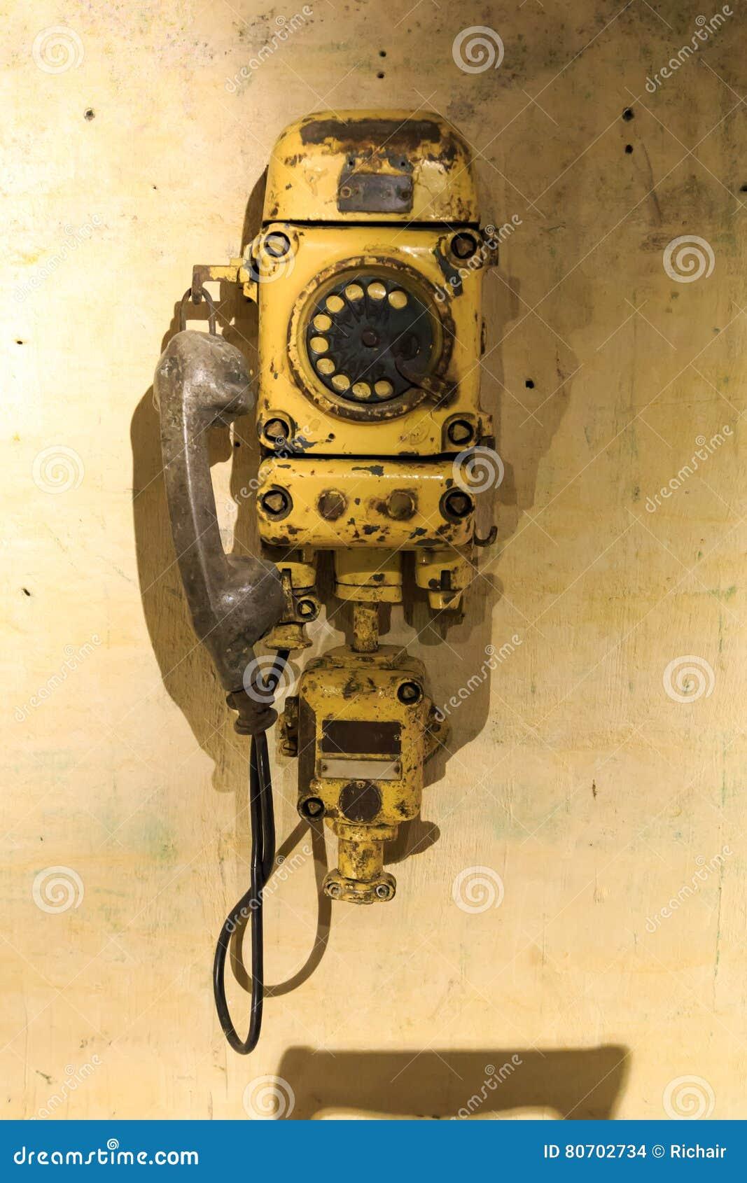 Vecchio telefono della miniera