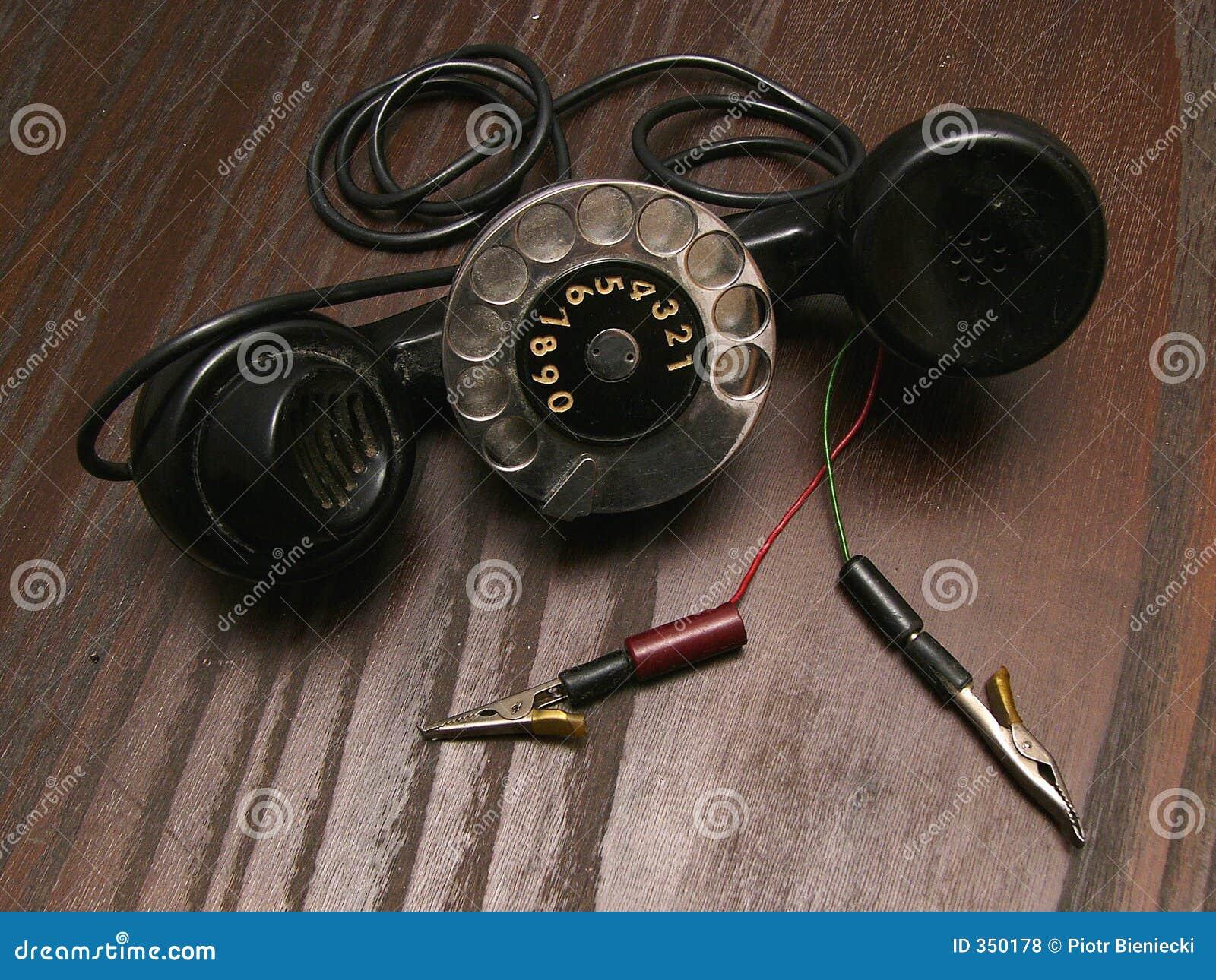 Vecchio telefono di servizio